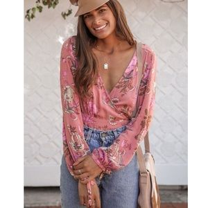 🌿 Spell Rosa Wrap Top Size S